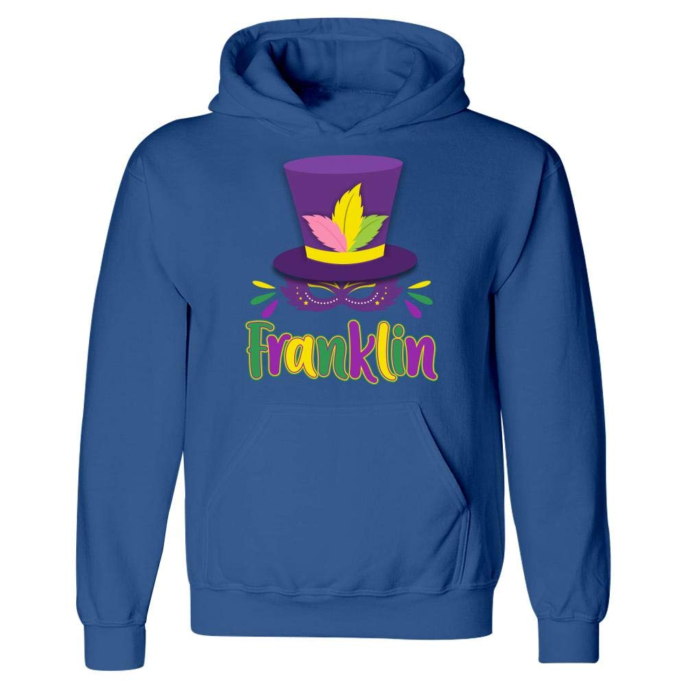 Hoodie Mardi Gras Theme Personalized Name Gift for Franklin