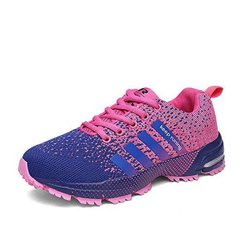 Sportschuhe Kuako Laufschuhe 1 Turnschuhe Air Damen Herren Straßenlaufschuhe Trekking Lila Fitness wqqPgFnO