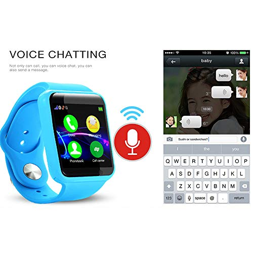 Yukuai Kids G10A Tracker Smart Watch for GPS Children's with Anti Lost IP67 Waterproof Location Device Tracker Baby Safe Anti-Lost Activity Monitor (Blue) (Best Child Gps Tracking Device In India)