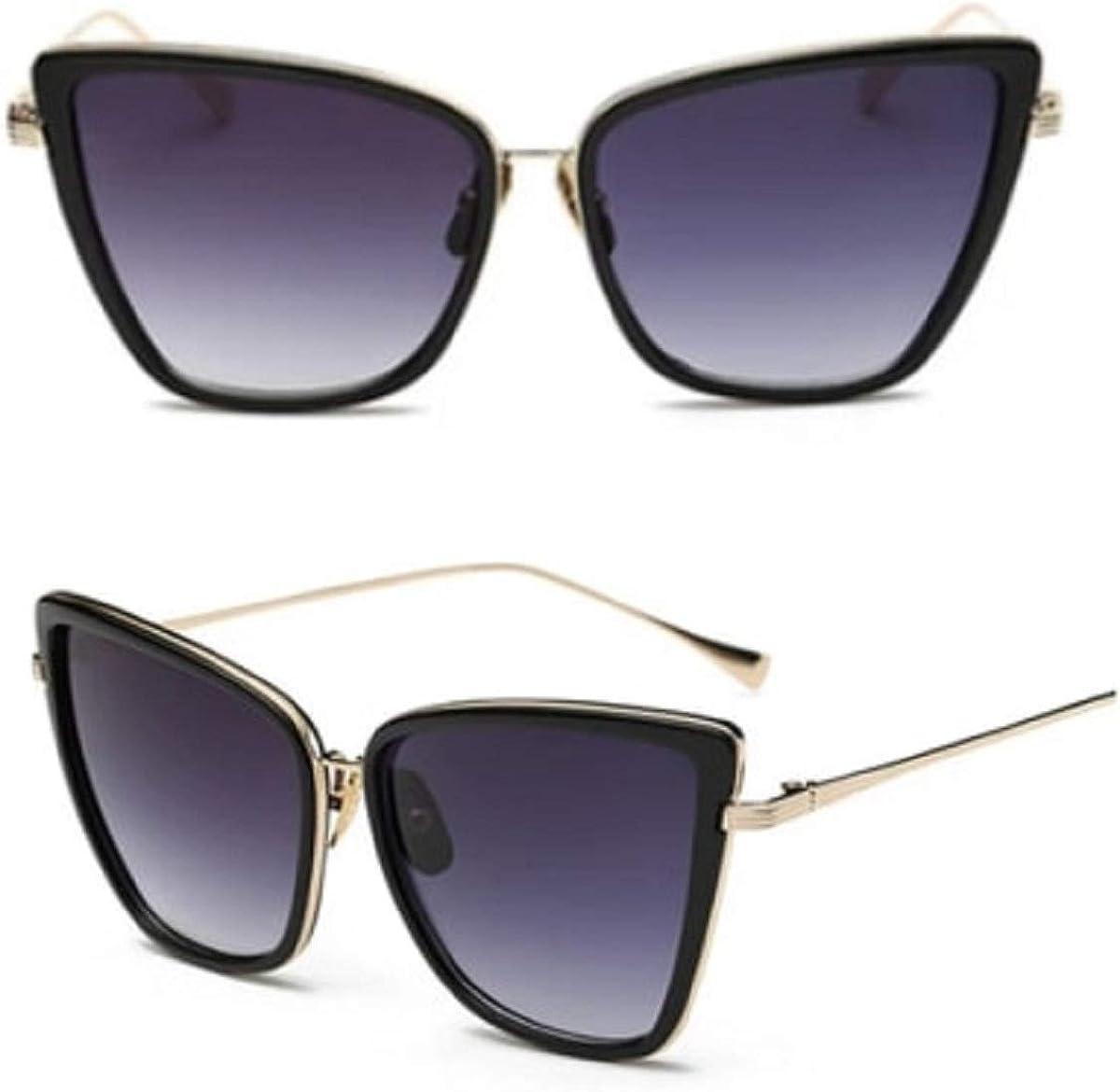 No Name Ltd Gafas de sol cuadradas negras con ojo de gato para mujer, estilo retro vintage 2020 Ibiza Festival