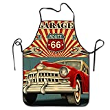 Vintage Car Garage Adjustable Apron For Kitchen Garden Cooking Grilling Women's Men's Great Gift For Wife Ladies Men Boyfriend