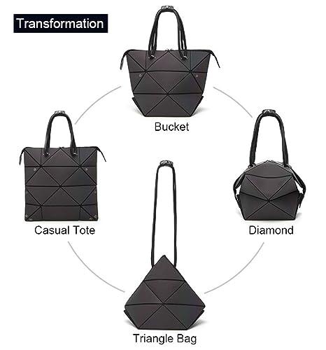 Amazon.com: Bolsa de hombro Lumikay con diseño geométrico y ...