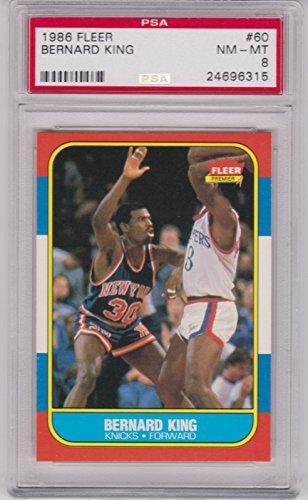 ing #60 PSA 8 NMT New York Knicks Basketball Card (Bernard King Autographed Basketball)