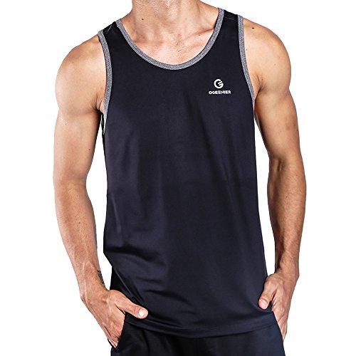 Running Sport De Séchage Bodybuilding Homme Manches Pour Gym 01 Ogeenier Débardeur Sans Noir Rapide Fitness 1xEqqfR