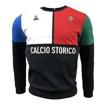 68b494b77 Le Coq Sportif 2018-2019 Fiorentina Fanwear Crew Sweater (Black)  Amazon.co.uk   Sports   Outdoors