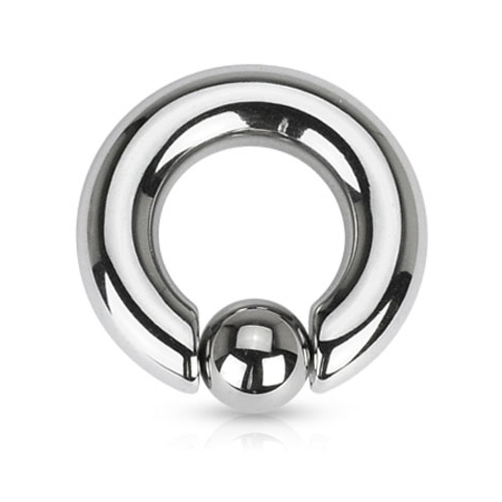 Inspiration Dezigns Captive Bead Ring 10G 12G Surgical Steel Spring Action 316L Inspiration Dezigns 12G Length: 5/8) hbj NA