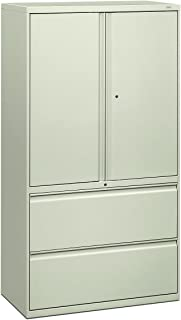 product image for HON 885LSQ 800 Series 36 by 19-1/4-Inch Lateral File with Storage Cabinet, Light Gray