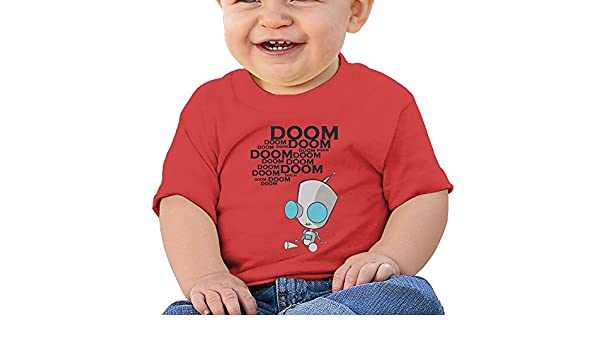 6-24 Month Baby T-Shirt Invader Zim Gir Doom Logo Fashion Classic Style Red