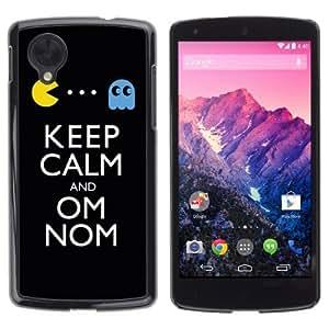 YOYOSHOP [Keep Calm & Om Nom] LG Google Nexus 5 Case
