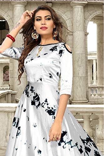 Traditonal Grey Designer Indian Da Facioun Readymade Women Partywear Silver Ethnic Kurti FYZfvq