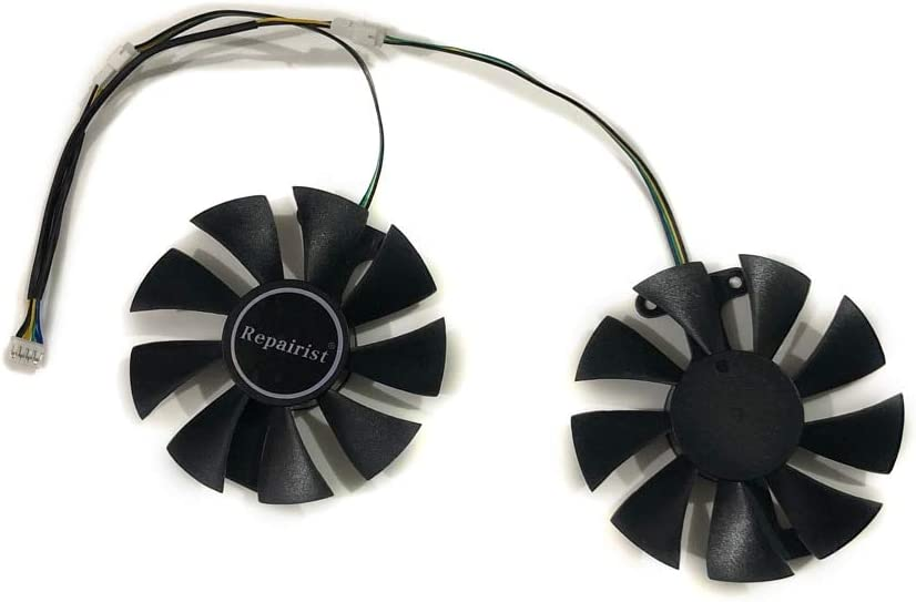 2pcs//lot AXRX 470//480 4GBD5 GPU Graphics Cooler VGA Fan For PowerColor Red Devil RX470 RX480 Video Cards Cooling As Replacement