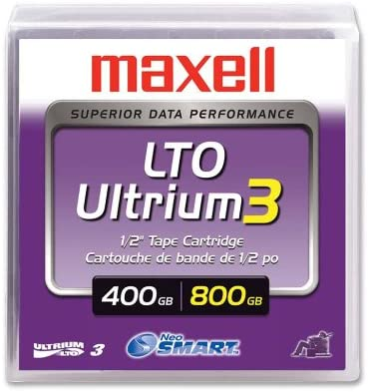 Single Maxell 22919700 LTO-4 Ultrium 800GB//1.6TB Tape Cartridge