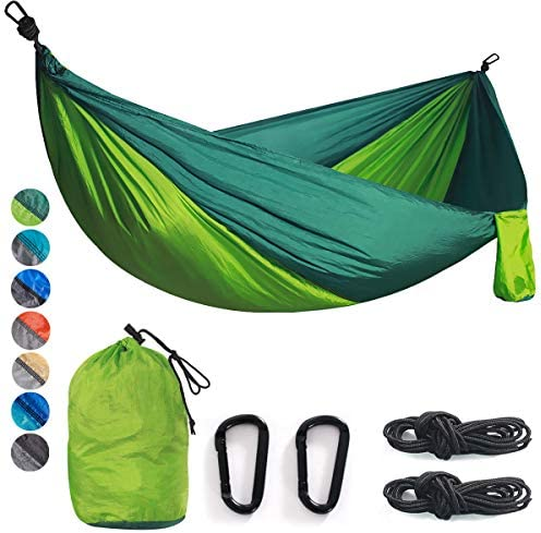 Double & Single Camping Hammock Nylon Portable Parachute Lightweight for Backyard Hiking Beach