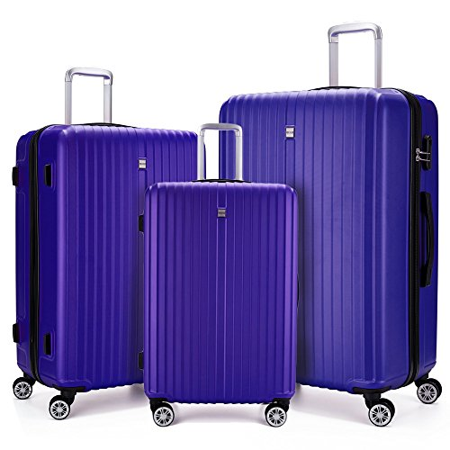 3 Piece Luggage sets Lightweight Durable Spinner Suitcase for sale  Delivered anywhere in USA