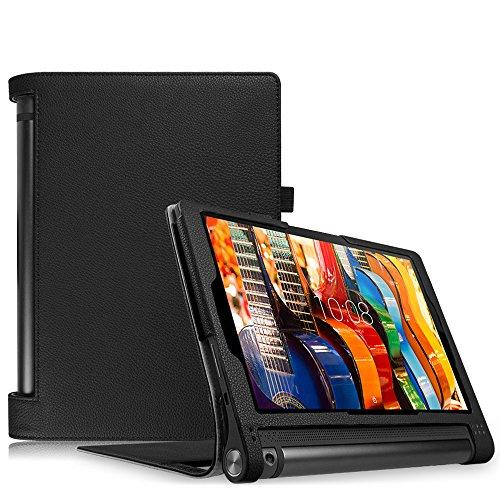 Fintie Lenovo Yoga Tablet 3 10 Hülle Case - Slim Fit Folio Premium Kunstleder Schutzhülle Tasche Etui Smart Cover mit Auto Sleep / Wake für Lenovo Yoga Tablet 3 25,7 cm (10,1 Zoll), Schwarz