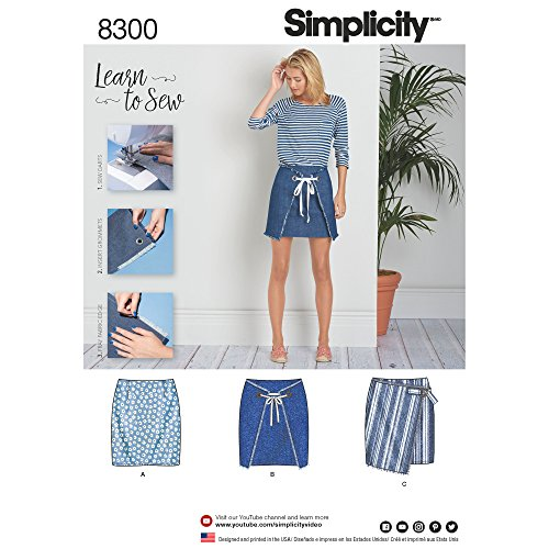 Simplicity Creative Patterns US8300A Sewing Pattern Skirts & Pants, A (A (6-8-10-12-14-16-18)