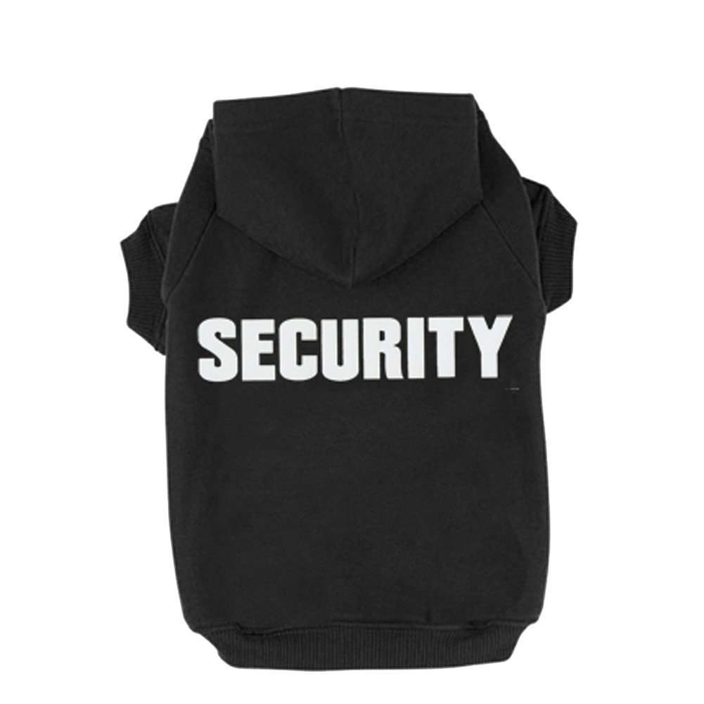 BINGPET BA1002-1 Security Patterns Printed Puppy Pet Hoodie Dog Clothes BA1002-1_SECURITY_L_F2
