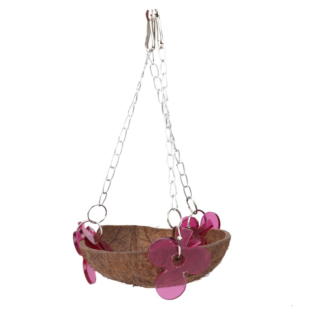 Bird Hut Coconut Shell Toys Chain Hanging Parrot House Nest Playing Standing Childplaymate
