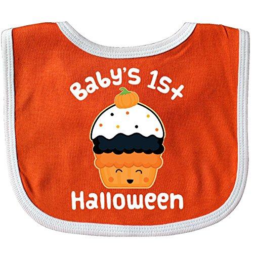 Inktastic - Halloween Cupcake Cute Holiday Baby Bib Orange/White 26ddb -