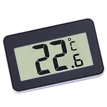 ShoppingLane Home Convenient Use Daily Waterproof Digital LCD Thermometer Temperature Meter W/Magnet Hook for Refrigerator Black