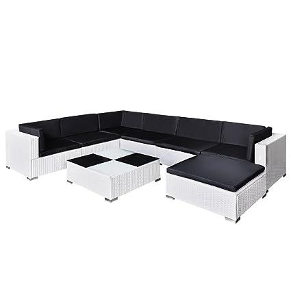 371fad23d075 vidaXL Outdoor Lounge Set 24 Piece Poly Rattan White Garden Furniture Seat:  Amazon.co.uk: Kitchen & Home