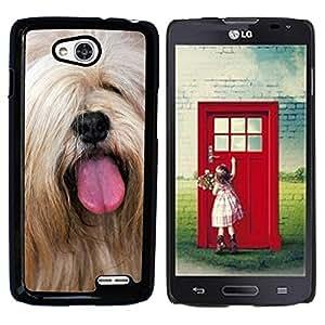 Cas Coq Case Cover // M00147256 Terrier perro de mascota Animal Marrón // LG Optimus L90 D415