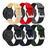 HWHMH Colorful Replacement Silicone Bands With Pin Removal Tools For Garmin Forerunner 220/230/235/620/630 (No Tracker, Replacement Bands Only) (Pure color of 6PCS)