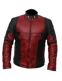 Deadpool Ryan Reynolds Wade Wilson Waxed Real Genuine Leather Costume Jacket