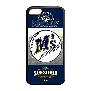Baseball Seattle Mariners Team Design Background for iPhone 5C TPU Case-by Allthingsbasketball