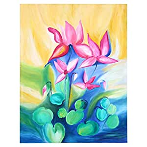 GrandUAE Canvas Multi Color Painting - Flowers