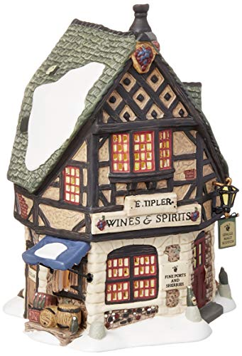 Department 56 Dickens' Village E Tipler Agent Wine Spirits Building (Pieces Village)