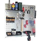 Wall Control Storage Systems 30-WGL-200GV Galvanized Utility Tool Storage Kit Black Accessories