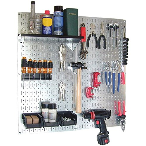 Wall Control Storage Systems 30-WGL-200GV Galvanized Utility Tool Storage Kit Black Accessories