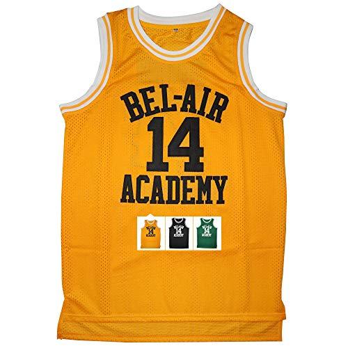 Kobejersey Will Smith14 The Fresh Prince of Bel Air Academy Basketball Jersey S-XXXL (Yellow, L)