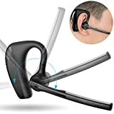 Bluetooth Headset Wireless Headphones Earbuds - Bluetooth 4.1 Business Earpiece Earphones with Rotatable Mic, Noise Cancelling, Storage Case for iPhone, Samsung Galaxy, Android, Tablets and More
