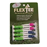 Flex Tee - Florescent Colors - 8 Pack Golf Tees - 3 Different Heights