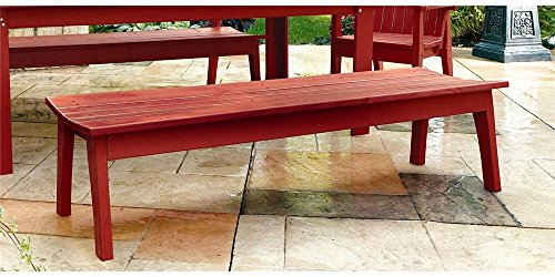 (Uwharrie Four Seat Bench in Solid Pine (Twilight Blue))