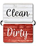 Dishwasher Magnet Clean Dirty Sign, Rustic