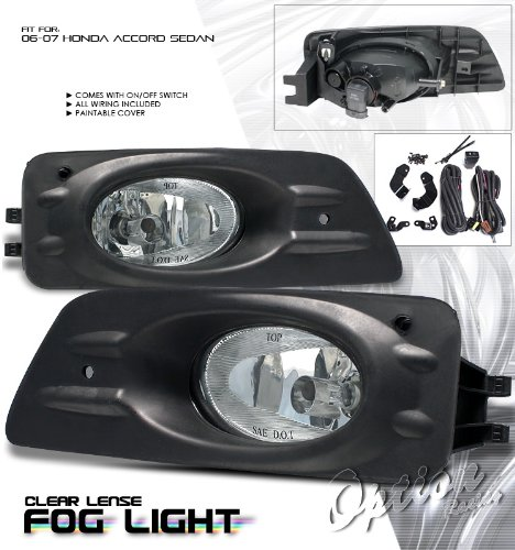 Fog Light   Honda Accord 4 Door 2006 2007 (With Wiring Kit): Automotive