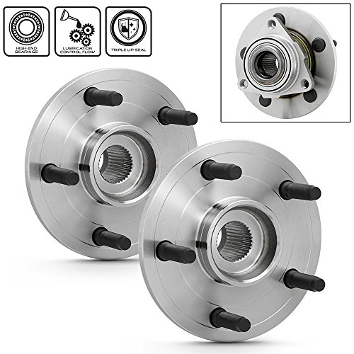 1500 Pickup Hub (For 2002-2008 Dodge Ram 1500 Pickup Truck 2WD 4WD Models Pair of 515038 Front Wheel Hub Bearings Assembly Replacement)