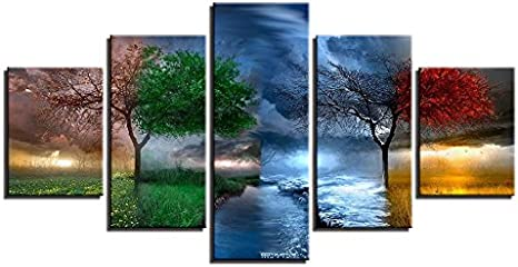 DIY 5D Diamond Painting Cross Stitch Crafts Kit Arts Craft for Home Wall Decor 5 Sets of Splicing Paintings