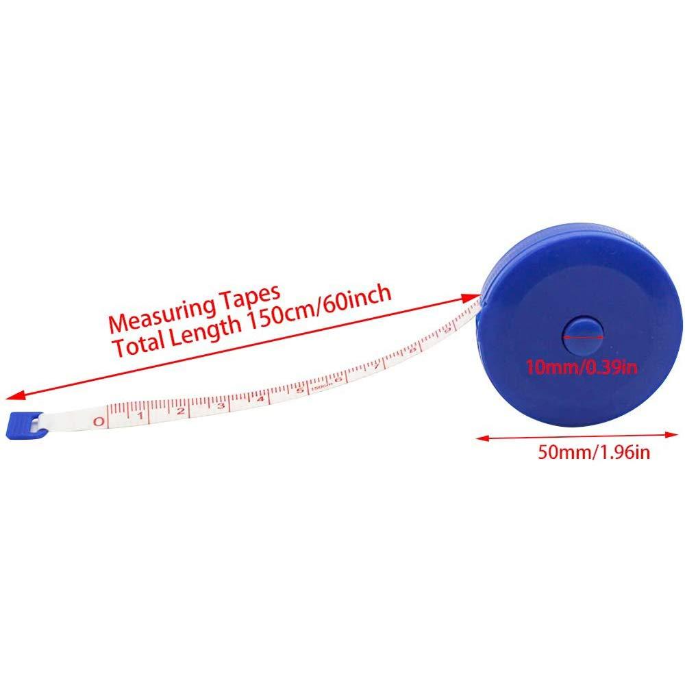Freeday-uk 60-Zoll 1,5 Meter weiches und einziehbares Ma/ßband Medizinische K/örpermessung Schneider Sewing Craft Cloth Di/äten Ma/ßband zuf/ällige Farbe