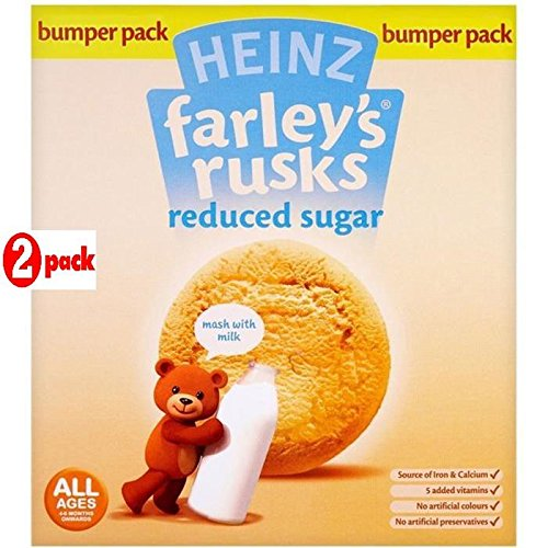 Heinz Farley's Rusks 18's Reduced Sugar 4-6 Mths Onwards 300g - Pack of 2