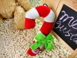 Dogloveit Cutie Christmas Candy Cane Style Plush Dog Toys with Sound Squeaker Squeaky Toy for Pets Puppies Dogs Cats For Sale
