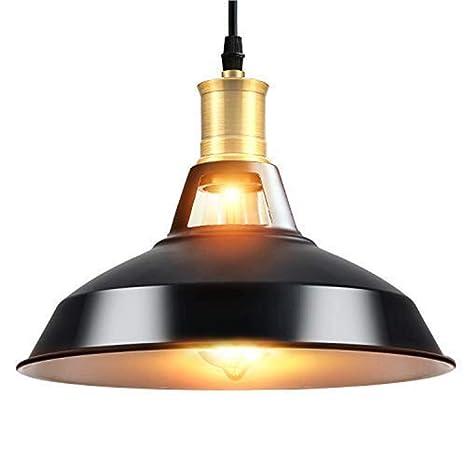 Louvra Techo Colgante Para De E27 Vintage Led Lámpara Industrial Retro Negro RestauranteBarCafeteríaEtcColor eH9D2IEbWY
