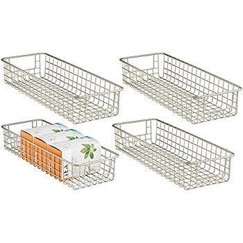 Amazon.com: mDesign Wire Storage Basket for Kitchen ...