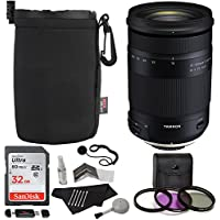 Tamron 18-400mm F/3.5-6.3 DI-II VC HLD All-In-One Zoom (6 Year Limited USA Warranty) For Canon APS-C Digital SLR Cameras, Sandisk 32GB, TruDigita Filter Kit, Ritz Gear Lens Pouch, and Accessory Bundle