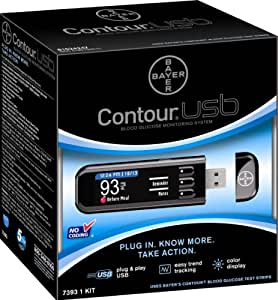 Amazon Com Bayer 7393 Contour Usb Blood Glucose
