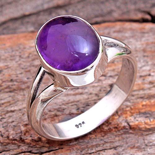 Febuary Birthstone Ring,Purple Amethyst,African Amethyst,Engagement Ring,Handmade Ring,Natural Sterling Silver Ring NATURAL AMETHYST RING
