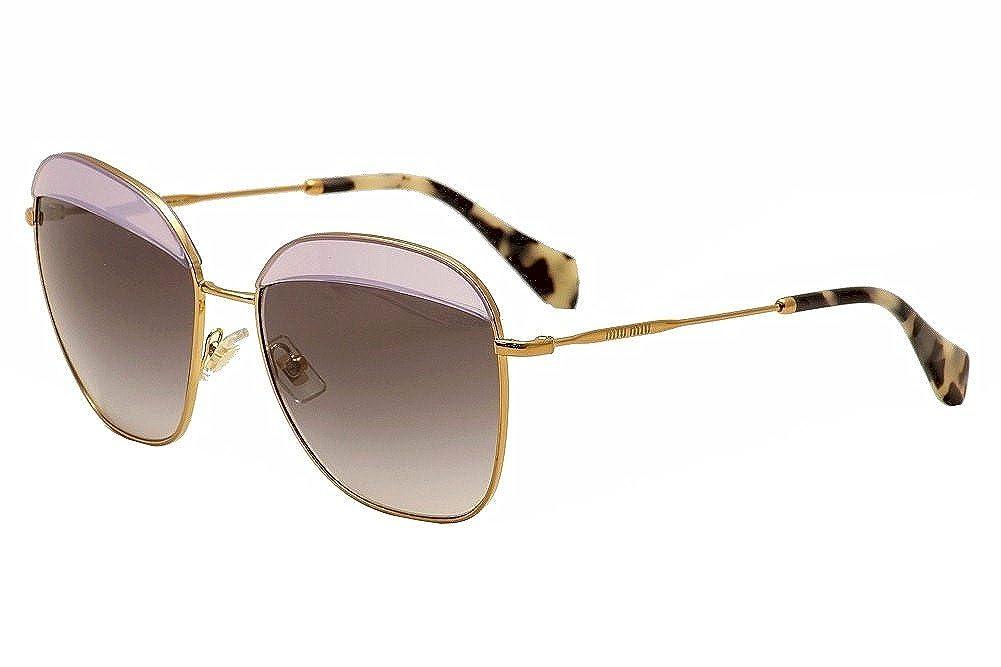 Miu Miu MU53QS Gafas de Sol, Dorado (Opal Violettc TWJ3E2 ...